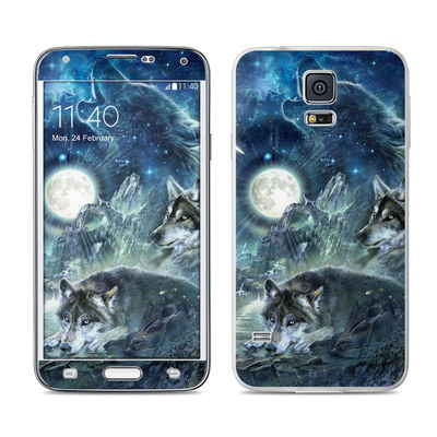 Samsung Galaxy S5 Skin - Bark At The Moon
