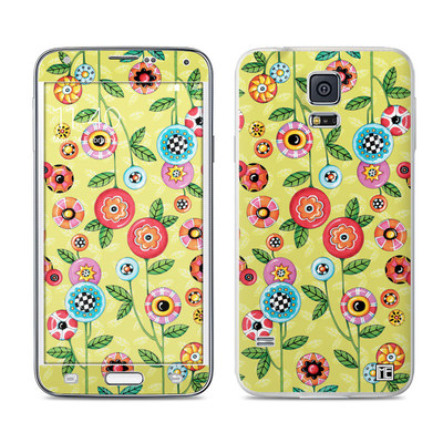 Samsung Galaxy S5 Skin - Button Flowers