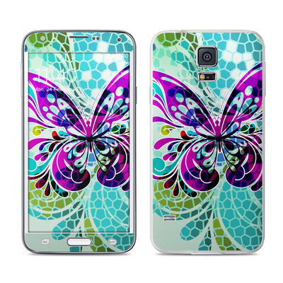 Samsung Galaxy S5 Skin - Butterfly Glass