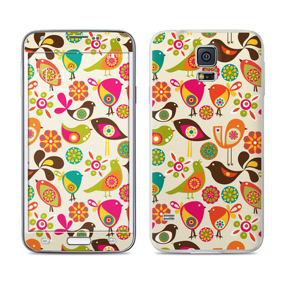 Samsung Galaxy S5 Skin - Bird Flowers