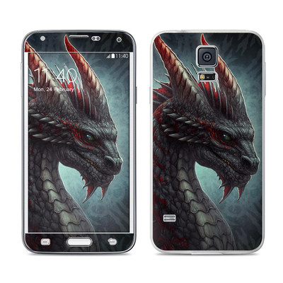 Samsung Galaxy S5 Skin - Black Dragon