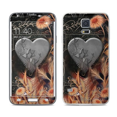 Samsung Galaxy S5 Skin - Black Lace Flower