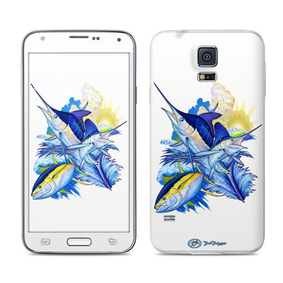 Samsung Galaxy S5 Skin - Blue White and Yellow