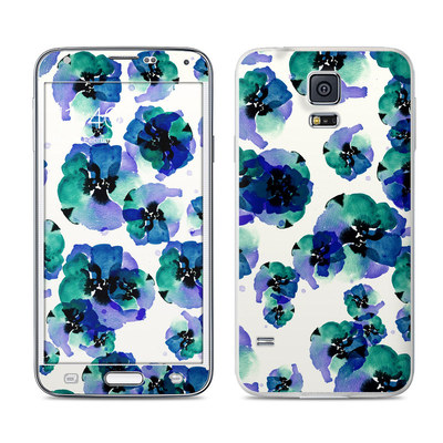 Samsung Galaxy S5 Skin - Blue Eye Flowers