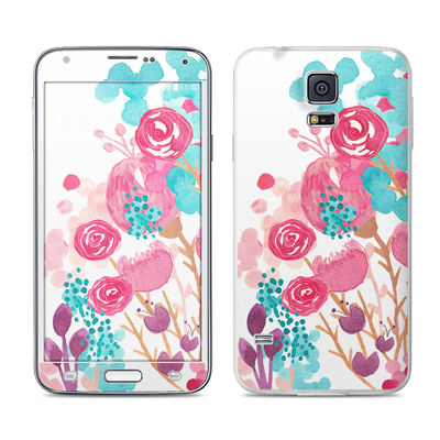 Samsung Galaxy S5 Skin - Blush Blossoms