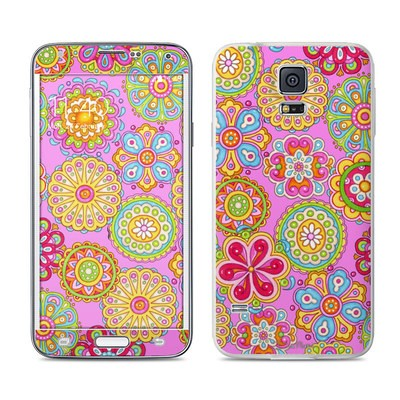 Samsung Galaxy S5 Skin - Bright Flowers