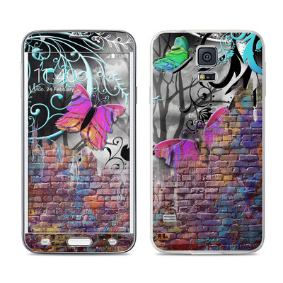 Samsung Galaxy S5 Skin - Butterfly Wall