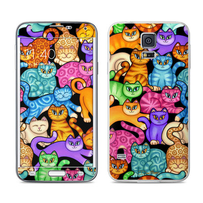 Samsung Galaxy S5 Skin - Colorful Kittens
