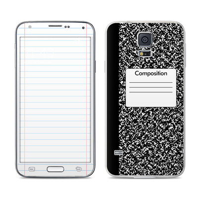 Samsung Galaxy S5 Skin - Composition Notebook