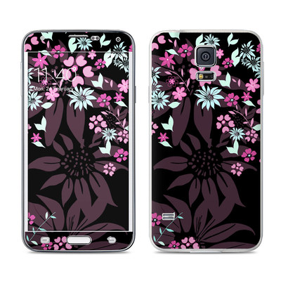 Samsung Galaxy S5 Skin - Dark Flowers