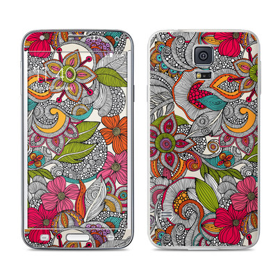 Samsung Galaxy S5 Skin - Doodles Color