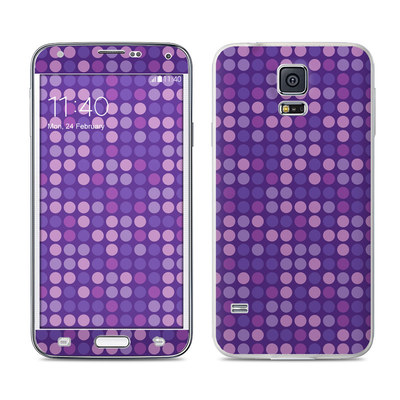 Samsung Galaxy S5 Skin - Dots Purple
