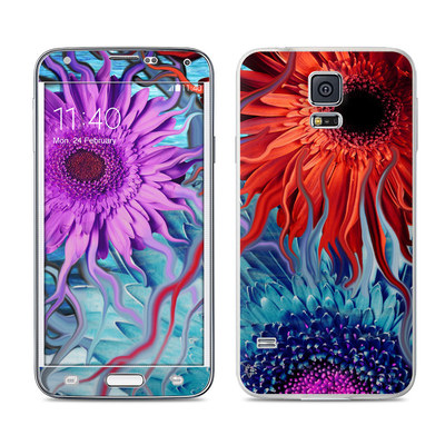 Samsung Galaxy S5 Skin - Deep Water Daisy Dance