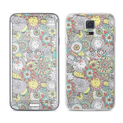 Samsung Galaxy S5 Skin - Faded Floral