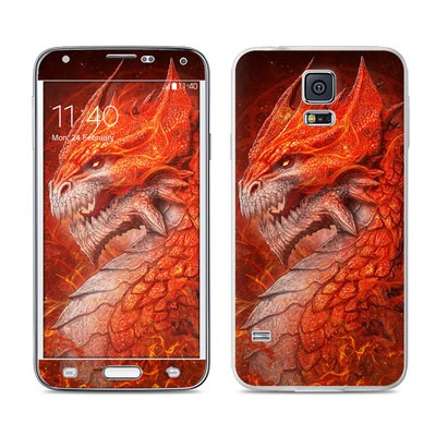 Samsung Galaxy S5 Skin - Flame Dragon