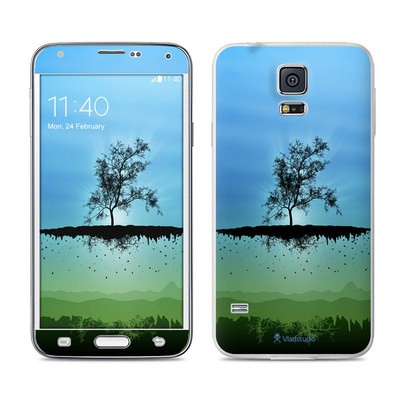 Samsung Galaxy S5 Skin - Flying Tree Blue
