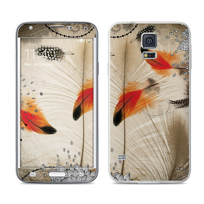 Samsung Galaxy S5 Skin - Feather Dance