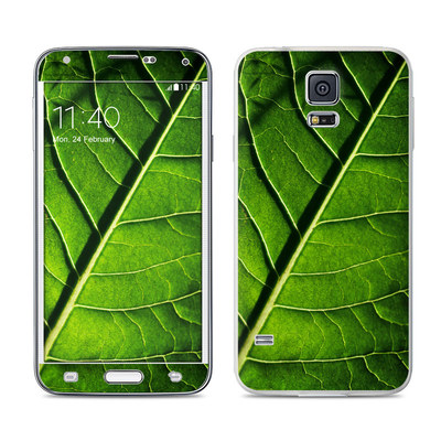 Samsung Galaxy S5 Skin - Green Leaf