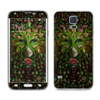 Samsung Galaxy S5 Skin - Green Woman