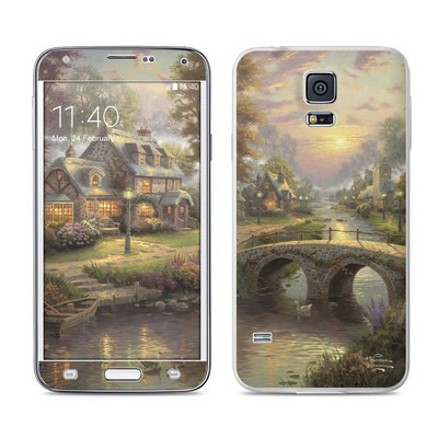 Samsung Galaxy S5 Skin - Sunset On Lamplight Lane