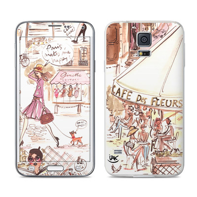 Samsung Galaxy S5 Skin - Paris Makes Me Happy