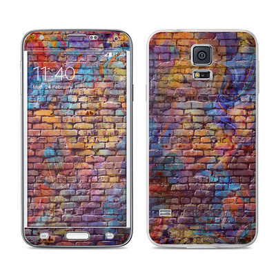 Samsung Galaxy S5 Skin - Painted Brick