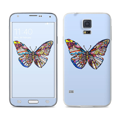 Samsung Galaxy S5 Skin - Pieced Butterfly