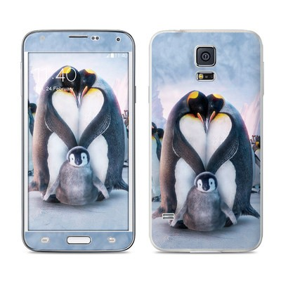 Samsung Galaxy S5 Skin - Penguin Heart