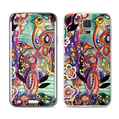 Samsung Galaxy S5 Skin - Purple Birds