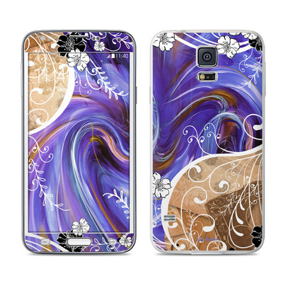 Samsung Galaxy S5 Skin - Purple Waves