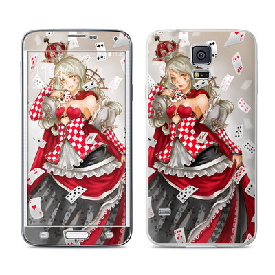 Samsung Galaxy S5 Skin - Queen Of Cards