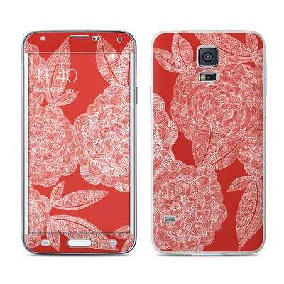 Samsung Galaxy S5 Skin - Red Dahlias