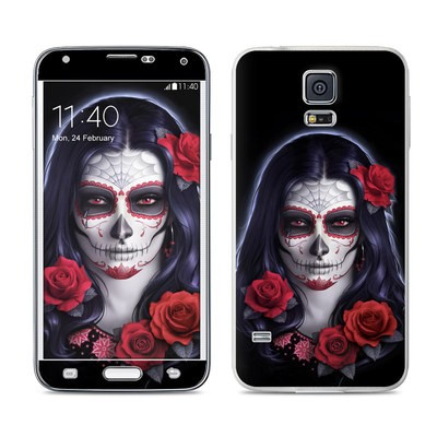 Samsung Galaxy S5 Skin - Sugar Skull Rose