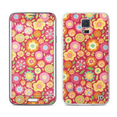 Samsung Galaxy S5 Skin - Flowers Squished