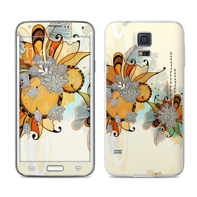 Samsung Galaxy S5 Skin - Sunset Flowers