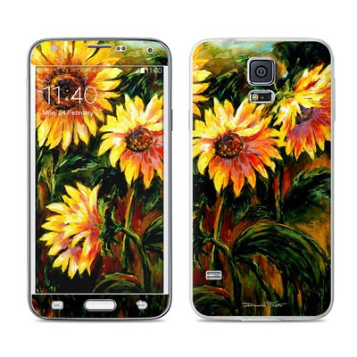 Samsung Galaxy S5 Skin - Sunflower Sunshine
