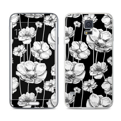 Samsung Galaxy S5 Skin - Striped Blooms