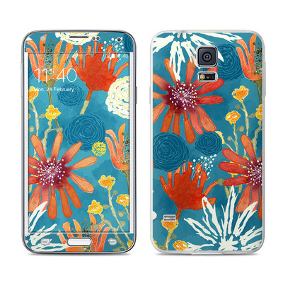 Samsung Galaxy S5 Skin - Sunbaked Blooms