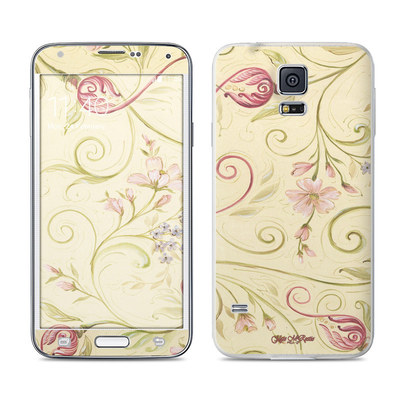 Samsung Galaxy S5 Skin - Tulip Scroll