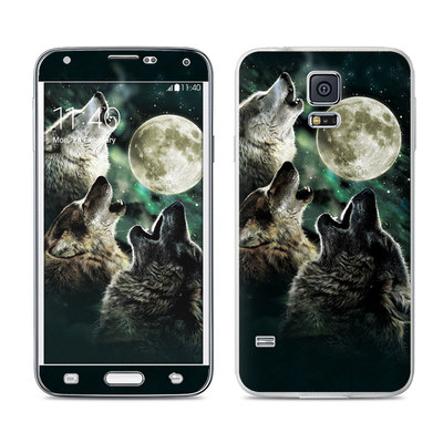 Samsung Galaxy S5 Skin - Three Wolf Moon