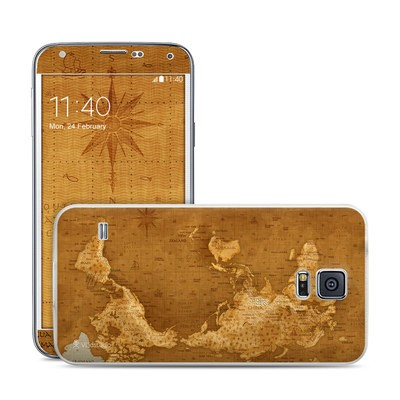 Samsung Galaxy S5 Skin - Upside Down Map