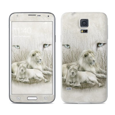 Samsung Galaxy S5 Skin - White Lion