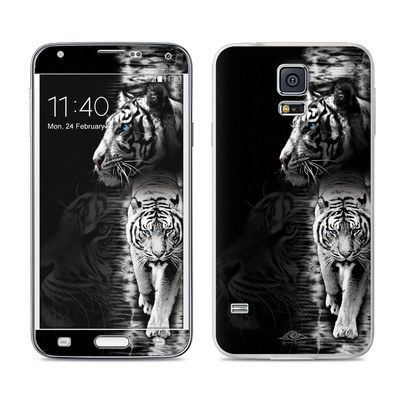Samsung Galaxy S5 Skin - White Tiger