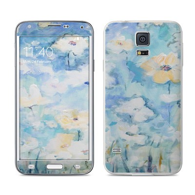 Samsung Galaxy S5 Skin - White & Blue