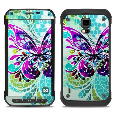 Samsung Galaxy S5 Active Skin - Butterfly Glass