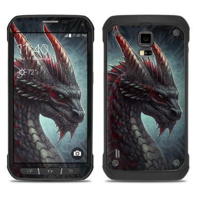 Samsung Galaxy S5 Active Skin - Black Dragon