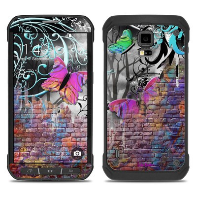 Samsung Galaxy S5 Active Skin - Butterfly Wall