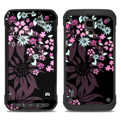 Samsung Galaxy S5 Active Skin - Dark Flowers