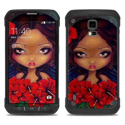 Samsung Galaxy S5 Active Skin - Red Hibiscus Fairy