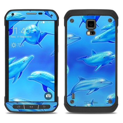 Samsung Galaxy S5 Active Skin - Swimming Dolphins